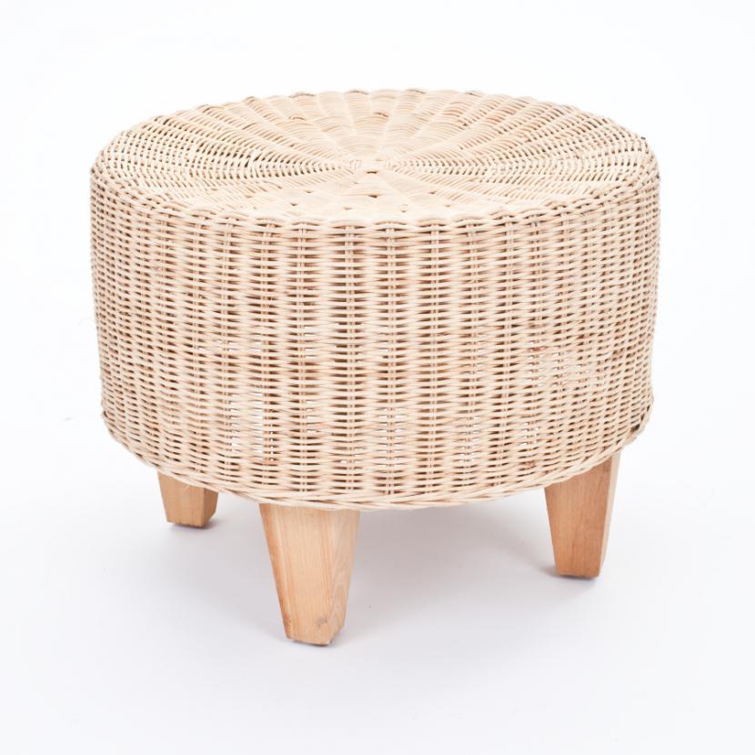 rattan hocker rund braun. Black Bedroom Furniture Sets. Home Design Ideas